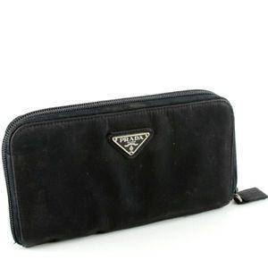 Prada Tessuto zip around wallet nylon